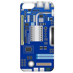 Classic Blue Computer Mainboard Apple Iphone 5 Classic Hardshell Case