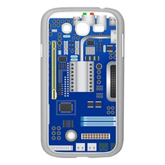 Classic Blue Computer Mainboard Samsung Galaxy Grand Duos I9082 Case (white)