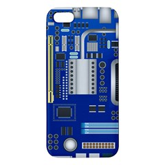 Classic Blue Computer Mainboard Iphone 5s/ Se Premium Hardshell Case