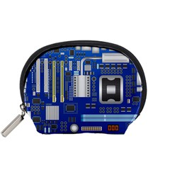 Classic Blue Computer Mainboard Accessory Pouches (small)