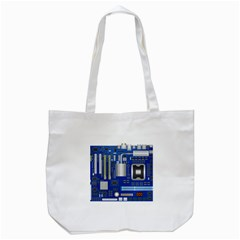 Classic Blue Computer Mainboard Tote Bag (white)