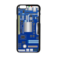 Classic Blue Computer Mainboard Apple Iphone 6/6s Black Enamel Case