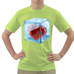 Heart In Ice Cube Green T Shirt