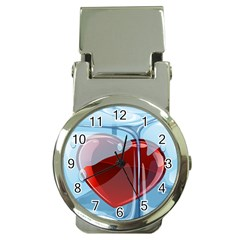 Heart In Ice Cube Money Clip Watches