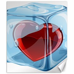 Heart In Ice Cube Canvas 20  X 24