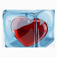 Heart In Ice Cube Large Glasses Cloth (2 Side)