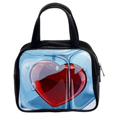 Heart In Ice Cube Classic Handbags (2 Sides)