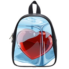 Heart In Ice Cube School Bags (small)