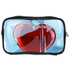 Heart In Ice Cube Toiletries Bags 2 Side