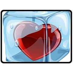 Heart In Ice Cube Fleece Blanket (large)