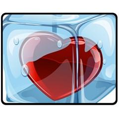 Heart In Ice Cube Fleece Blanket (medium)