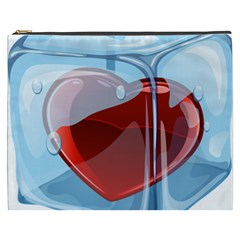 Heart In Ice Cube Cosmetic Bag (xxxl)