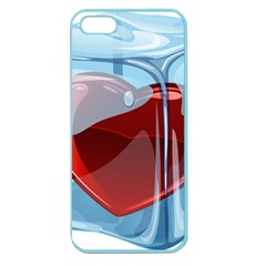Heart In Ice Cube Apple Seamless Iphone 5 Case (color)