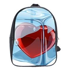 Heart In Ice Cube School Bags (xl)