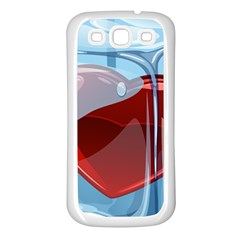 Heart In Ice Cube Samsung Galaxy S3 Back Case (white)