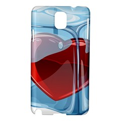 Heart In Ice Cube Samsung Galaxy Note 3 N9005 Hardshell Case