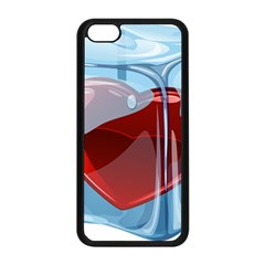 Heart In Ice Cube Apple Iphone 5c Seamless Case (black)