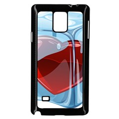 Heart In Ice Cube Samsung Galaxy Note 4 Case (black)