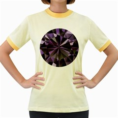 Amethyst Women s Fitted Ringer T Shirts
