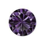 Amethyst Magnet 3  (Round) Front