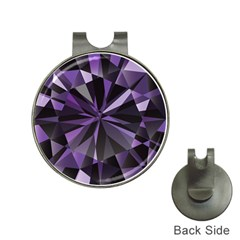 Amethyst Hat Clips With Golf Markers