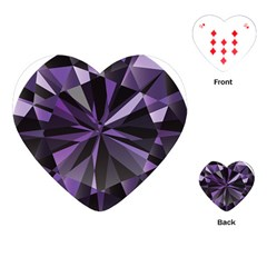 Amethyst Playing Cards (heart)