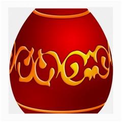 Easter Decorative Red Egg Medium Glasses Cloth (2 Side)