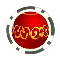 Easter Decorative Red Egg Poker Chip Card Guard