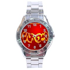 Easter Decorative Red Egg Stainless Steel Analogue Watch