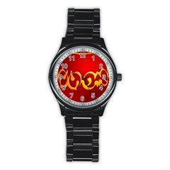 Easter Decorative Red Egg Stainless Steel Round Watch