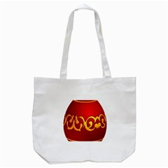 Easter Decorative Red Egg Tote Bag (white)
