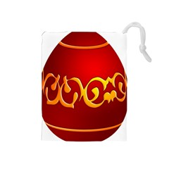 Easter Decorative Red Egg Drawstring Pouches (medium)