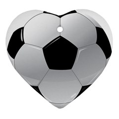 Soccer Ball Ornament (heart)