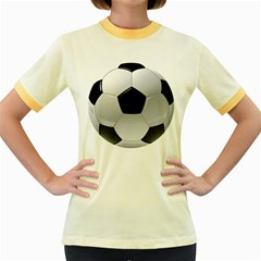 Soccer Ball Women s Fitted Ringer T Shirts