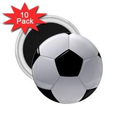 Soccer Ball 2 25  Magnets (10 Pack)