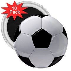 Soccer Ball 3  Magnets (10 Pack)