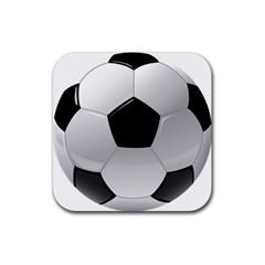 Soccer Ball Rubber Coaster (square)