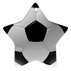 Soccer Ball Star Ornament (two Sides)