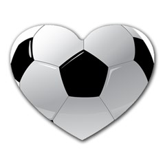 Soccer Ball Heart Mousepads