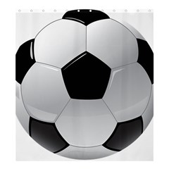 Soccer Ball Shower Curtain 66  X 72  (large)