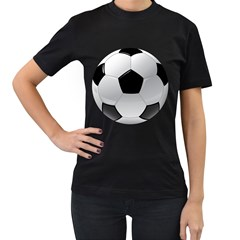 Soccer Ball Women s T Shirt (black)