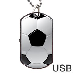 Soccer Ball Dog Tag Usb Flash (one Side)