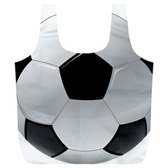 Soccer Ball Full Print Recycle Bags (l)