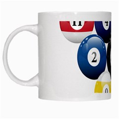 Racked Billiard Pool Balls White Mugs