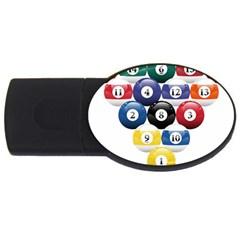 Racked Billiard Pool Balls Usb Flash Drive Oval (2 Gb)