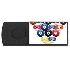 Racked Billiard Pool Balls Rectangular Usb Flash Drive