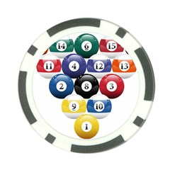 Racked Billiard Pool Balls Poker Chip Card Guard