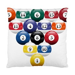 Racked Billiard Pool Balls Standard Cushion Case (two Sides)