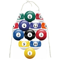 Racked Billiard Pool Balls Full Print Aprons