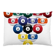 Racked Billiard Pool Balls Pillow Case (two Sides)